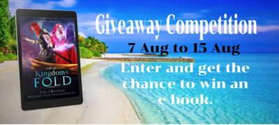 Enter the Giveaway Competition between 7th-15th of August and get the chance to win an e-copy of At the Kingdoms' Fold.